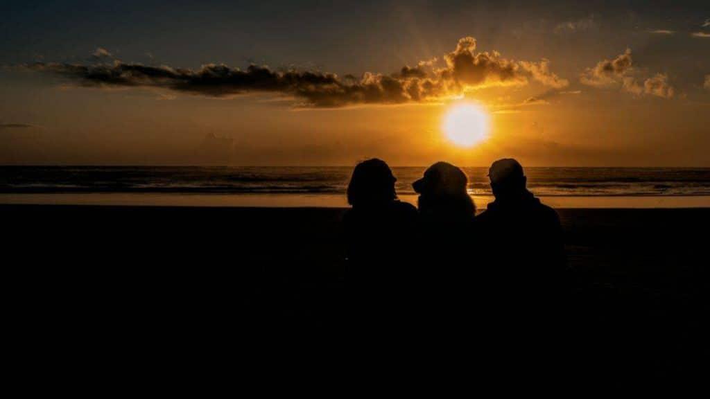 silhouette at sunset on Oregon Coast