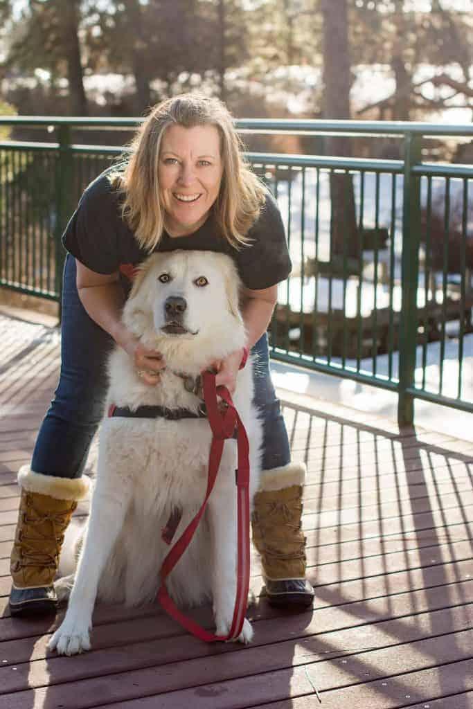 Spokane dog photographer and her Maremma sheepdog Bella