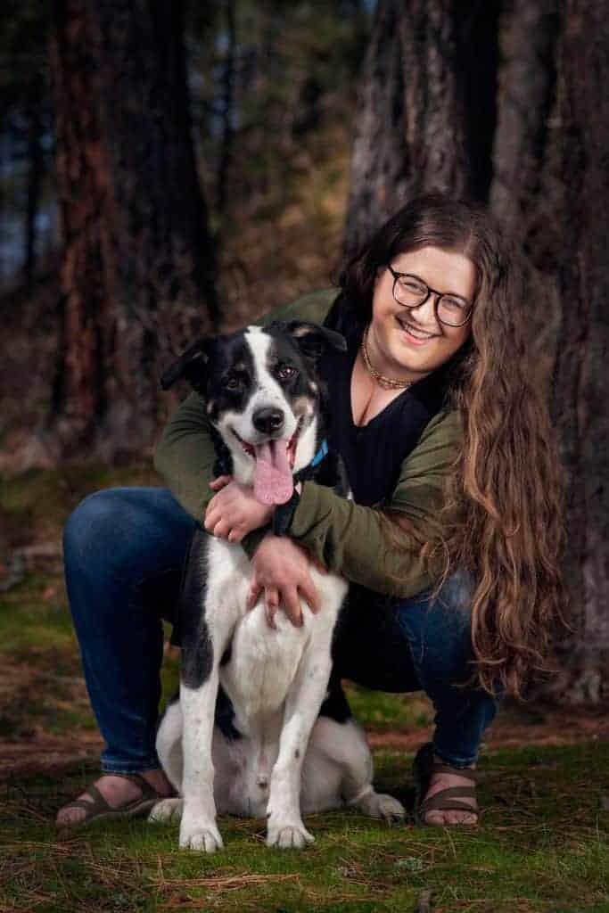 Spokane dog mom and her rescue dog